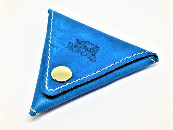 Monedero – triángulo azul