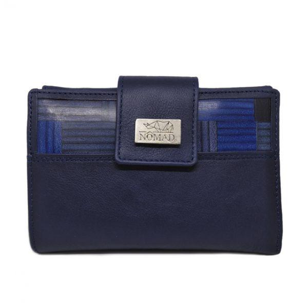 cartera mujer 14 cm delantera azul
