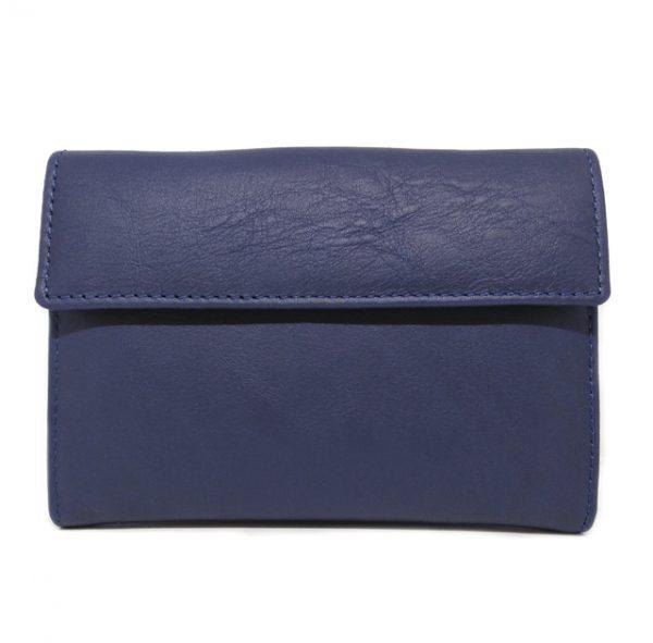 cartera mujer 14 cm trasera azul