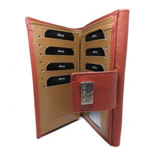cartera mujer 18 cm interior roja